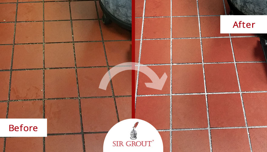 Commercial Kitchen Quarry Tile Cleaning & Sealing