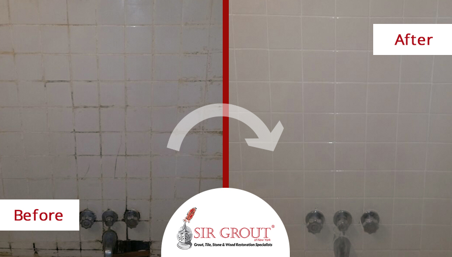 Ruined Shower in Jamaica Estates Home Gets Transformed in Just 4 Hours with a Tile Cleaning and Caulking Service