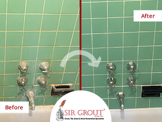 A Low-budget Tile and Grout Cleaning Job Transformed this Dingy Cobble Hill Bathroom