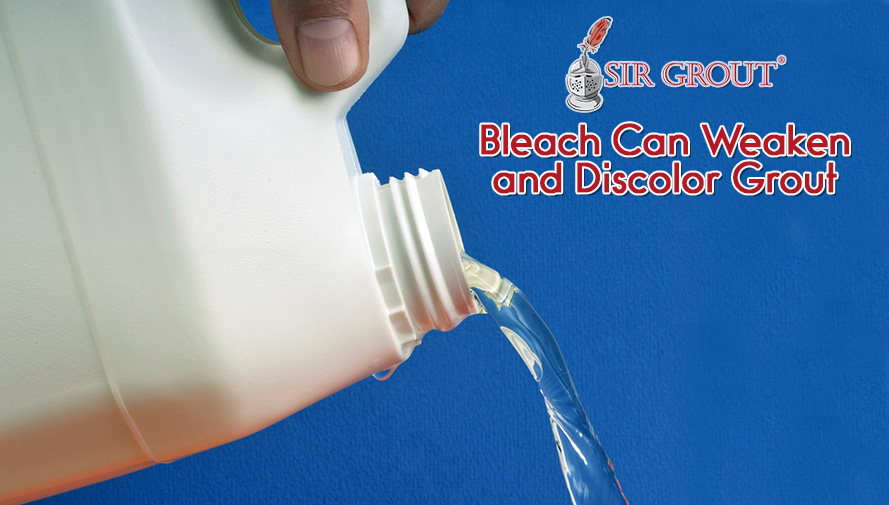 Bleach Is Effective to Disinfect but Can Damage Grout